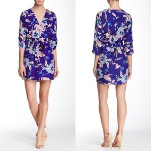 Yumi Kim Tie Waist Floral Mini Faux Wrap Dress